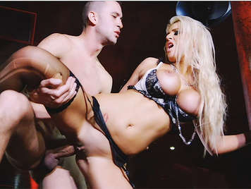 Impressive busty Luxury bitch, fucked hard receives a spectacular cumshot over her swollen pussy
