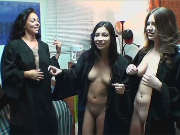 University Girls celebrating their graduation sucking a cock