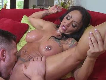 Fucking a milf tattooed huge breasts
