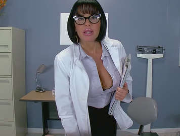 Porn video in POV of a hot busty doctor fucking with her patient