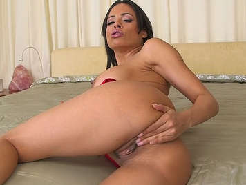 busty Latina fucked with a mouthful of cum