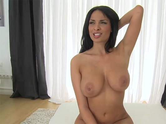 Playing with the natural tits of Anissa Kate