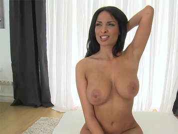 Enjoying with the natural tits of Anissa Kate