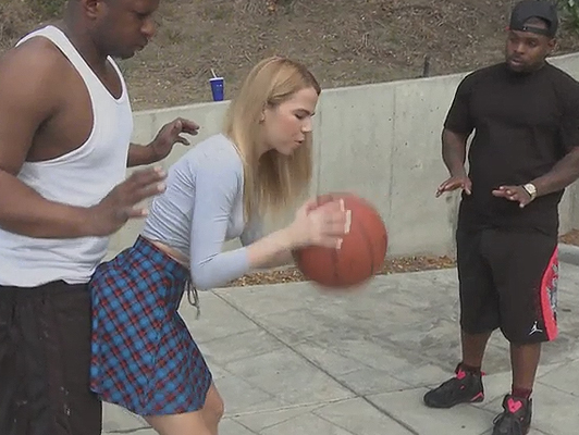 Blonde fucking two black university NBA