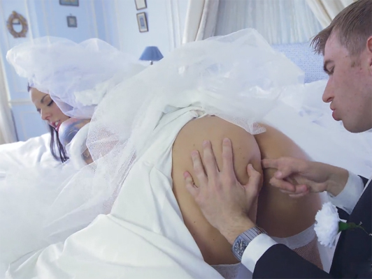 sexual chaos with the bride on her wedding day
