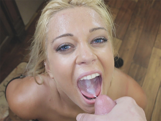 amateur porn video fucking in the kitchen with the horny little stepsister