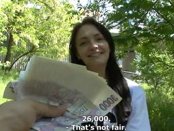 Czech caught on the street fucks for money
