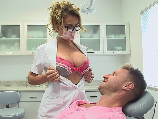 Busty blonde milf doc loves oral sex exam