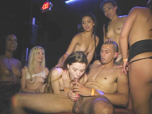 Hot girls in a wild sex party in a vip club