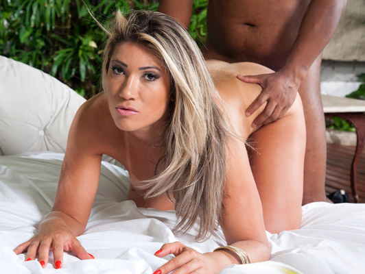 Amazing assed Brazilian blonde fucked hard on all fours
