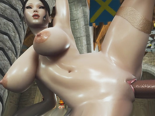 Hetai 3D porn busty princess fucked by a huge cock that fills her pussy of cum