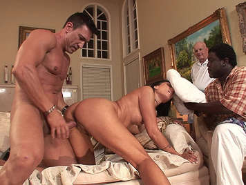 Marco fucking a mature unfaithful wife in front of his old, cuckold husband