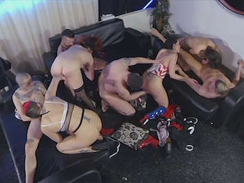 Orgy with single European women hungry for cock and hot cum