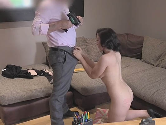 Young duped and recorded in a porn casting
