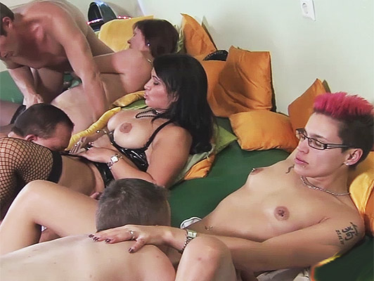 European orgy with German fans to couples exchange