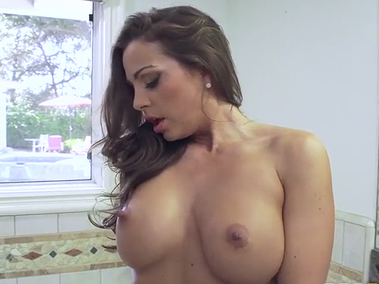 Mature busty masturbating in shower is fucked by her husband