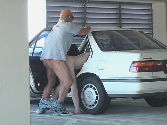 Porn Video voyeur a couple fucking hard in the parking of an airport