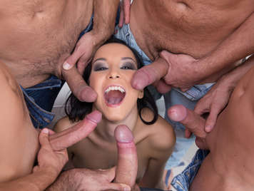 5 cocks for the horny brazilian Francys Belle