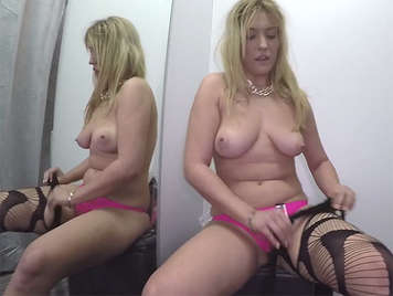 Fucking in the testers with a busty Spanish girl