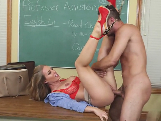 Intense sex in the classroom between student and teacher