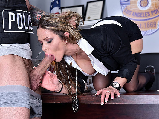 Fucking the police chief a beautiful milf with big and juicy tits