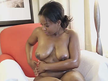 Sex with chubby mulatta smeared in oil