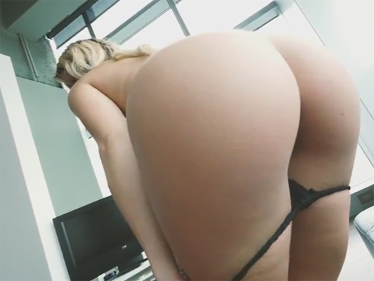 Horny step sister shows off her bubble to her brother for fuck him