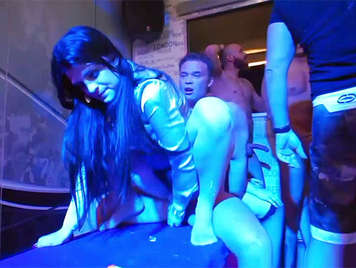 Brutal and wild bachelorette party in a disco with 40 very horny girls