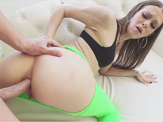 Her first anal porn video filmed with her boyfriend