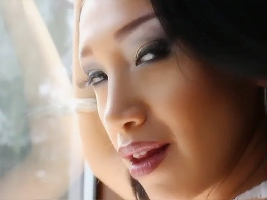 elegant Asian posh girl in sexy lingerie sucks and fucks a big cock full of cum