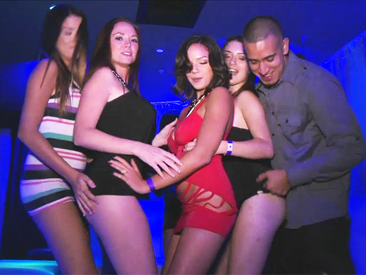 Wild party with hot girls and dirty sex in a nightclub