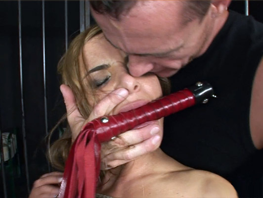 sadomasochistic sex with a busty blonde tied up and fucked in the ass
