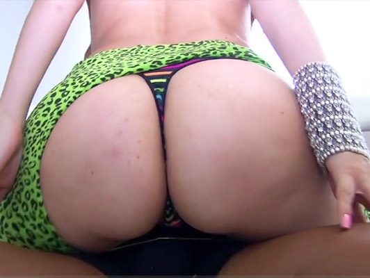 Fucking a Colombian blonde with a spectacular ass that loves the hot cum in her mouth