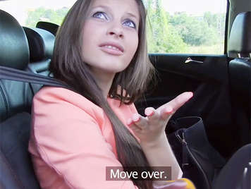 Sweet Russian teen babe fucked in a taxi gets a good cumshot on her beautiful ass