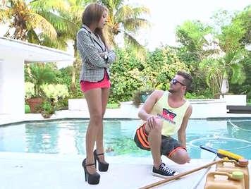 horny latina girl wanna sex with her gardener