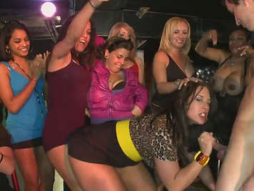All the girls invited to the bachelorette party want to suck cock to BOY