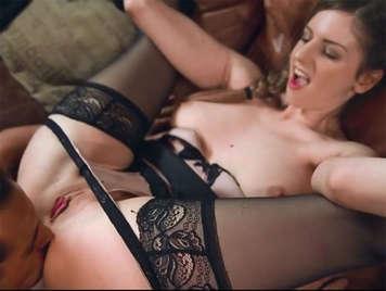 cazzo con Stella Cox in lingerie sexy