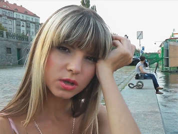 anal creampie to a little rusian blonde in public