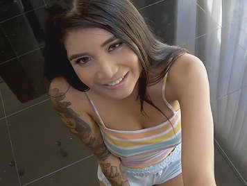 Bella latina likes to fuck hard with strangers