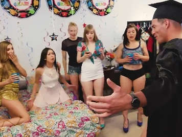 University Orgy the day of the graduation
