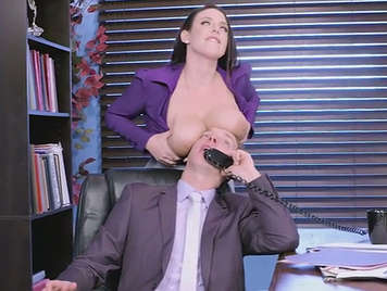 Curvy and hot secretary loves tha big cock of her boss fucking hard her cunt