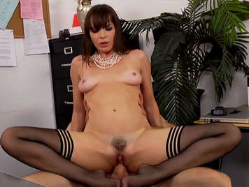 Horny and elegant secretary Fucking And Swallowing cum in the office