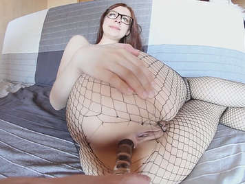 Big ass in tights receives a good cock in the ass