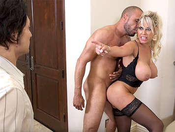 Unfaithful Spanish housewife with big tits Bridgette B. fucked by a stud in front of her cuckold husband