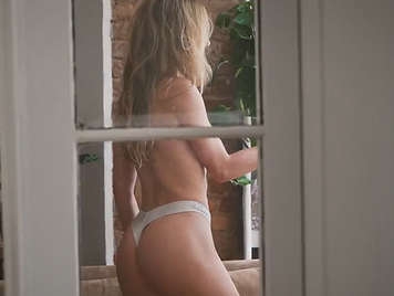 Fucking in thong spied on hidden camera with beautiful ass