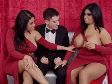 Spanish porn, Jordi El Niño Cock in a threesome with the Sisters Ortega