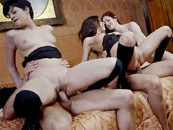 Three very dirty schoolgirls fucking hard in a DP video and facial cumshots