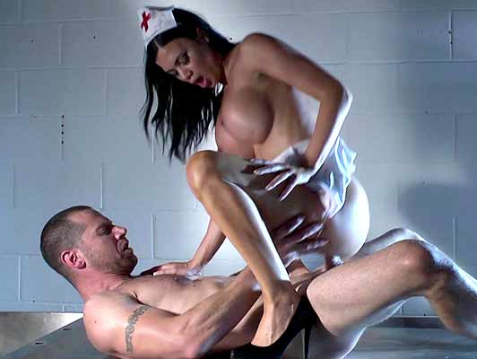 Nurse silicone tits fucking twilight enjoying like a slut with a cock in pussy