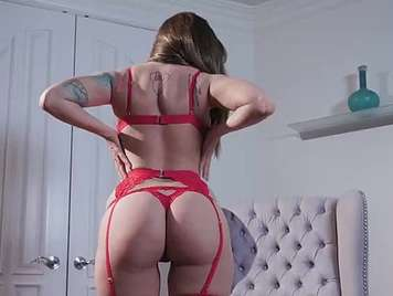 Mature in red lingerie fucked romantically
