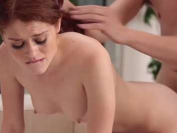 He breaks the cula to a redhead in anal sex